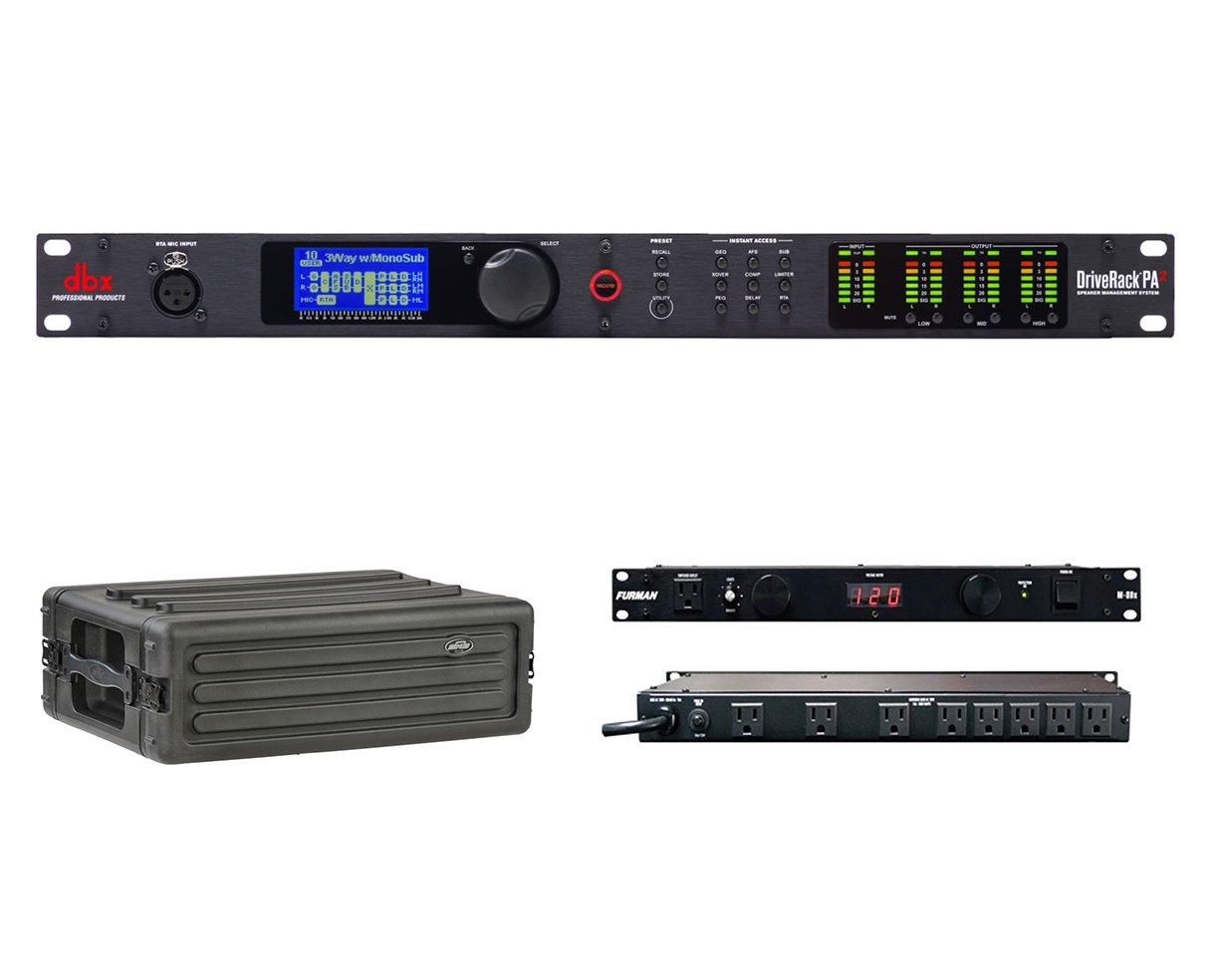 dbx DriveRack PA2 Speaker Management Processor + SKB 1SKB-R3S + Furman M-8Dx