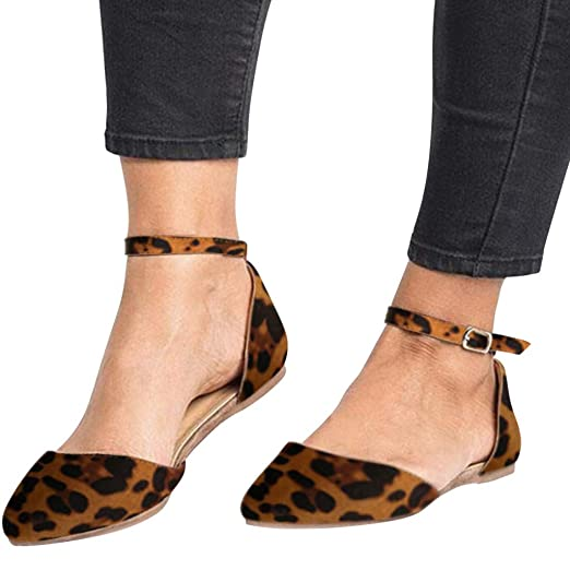 fbde683cdda9 Amazon.com: 💖💖AOmahh💖💖 Women's Casual Sandals Retro Lady Leopard ...