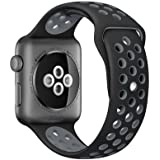 Compatible for Apple Watch Band 38mm 40mm 42mm 44mm,Soft Silicone Sport Band Replacement Wrist Strap Compatible for…