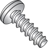 3//8 Length Phillips Drive #8-16 Thread Size Pan Head 18-8 Stainless Steel Thread Rolling Screw for Plastic Passivated Finish Pack of 50
