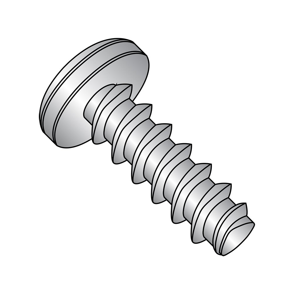18-8 Stainless Steel Thread Rolling Screw for Plastic, Passivated Finish, Pan Head, Phillips Drive, #12-11 Thread Size, 1'' Length (Pack of 25)
