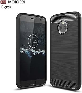 GOGME Funda para Motorola Moto X4, Slim Silicona Case, Negro: Amazon.es: Electrónica
