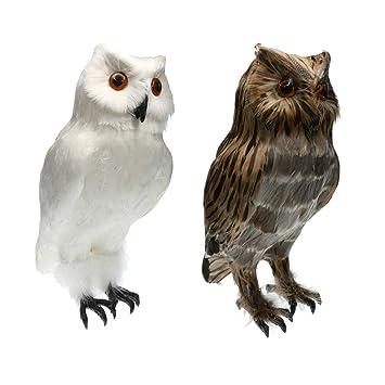 Künstliche Eule Vögel Gefiederte Eule Garten Vögel Figur Simulation