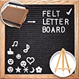Felt Letter Board Wooden Letter Board Set Metal Letter Board 10x10 with 340 White Board Letters Changeable Letter Board Letter Board for Kids