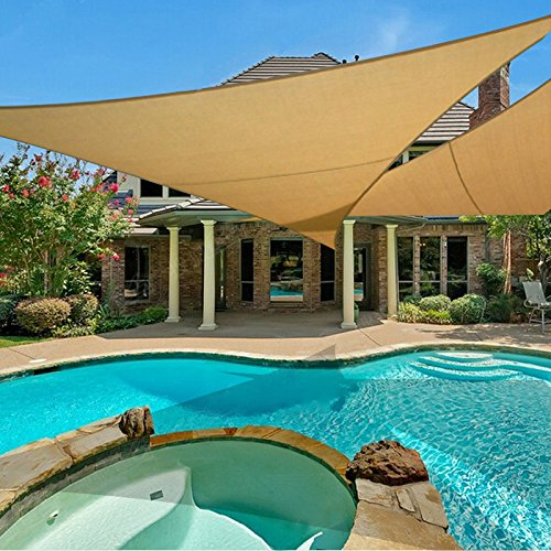 e.share 20' X 20' X 20' Sun Shade Sail Uv Top Outdoor Canopy Patio Lawn Triangle Beige Tan Desert Sand ... by e.share