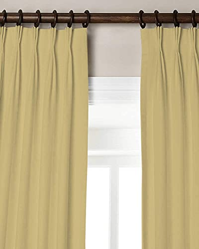 Magic Drapes Home d cor 100 Polyester Triple Pinch Pleated Blackout Window Curtain Panel Drapes and Thermal Insulation 42×95,Beige