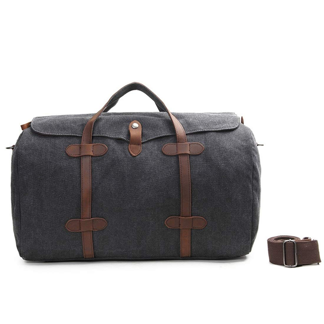 Color : Dark Gray Carriemeow Canvas Bag Canvas Messenger Bag Crazy Horse Travel Outdoor Fitness Men Portable Manual Travel Bag