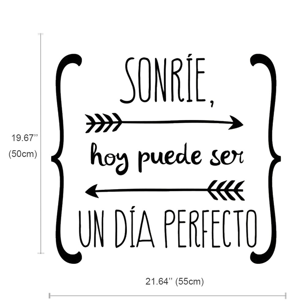 Amazon.com: Spanish Wall Sticker Sonríe Hoy Puede Ser Un Dia Perfecto: Home & Kitchen