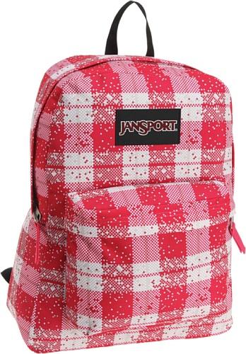 JanSport Black Label Superbreak Backpacks,Pink Tulip Digi Plaid ()