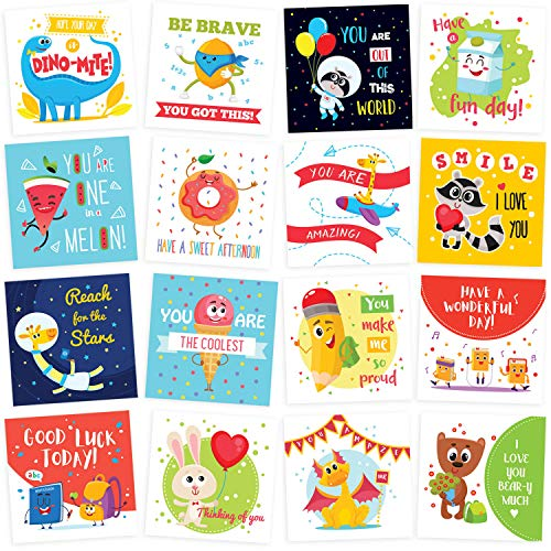 - Lunch Box Notes for Kids - 60 Cute Inspirational and Motivational Thinking of You Cards for Boys & Girls Lunchbox