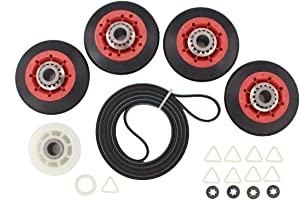 ApplianPar 4392067 Dryer Repair Kit with 279640 Idler Pulley & 4Pk W10314173 Drum Roller & 40111201 Belt For Whirlpool Maytag Kenmore 661570 4392067VP PS373088 4392067VP