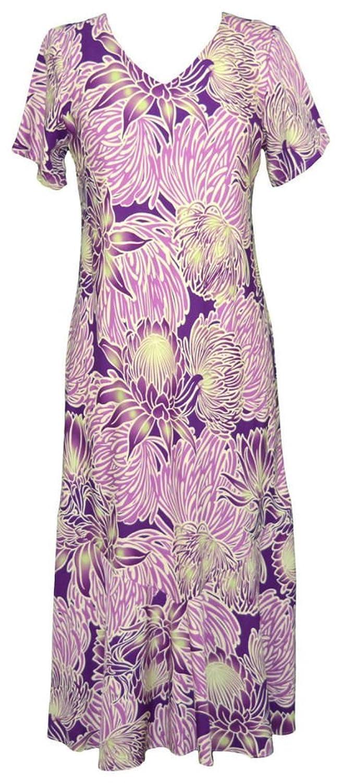 1930s Style Fashion Dresses RJC Womens Evening Blossom Tea Length Cap Sleeve Hawaiian Dress $76.88 AT vintagedancer.com
