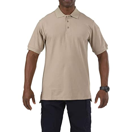 5.11 Tactical Series Utility Polo Short Sleeve, Hombre, Silver Tan ...