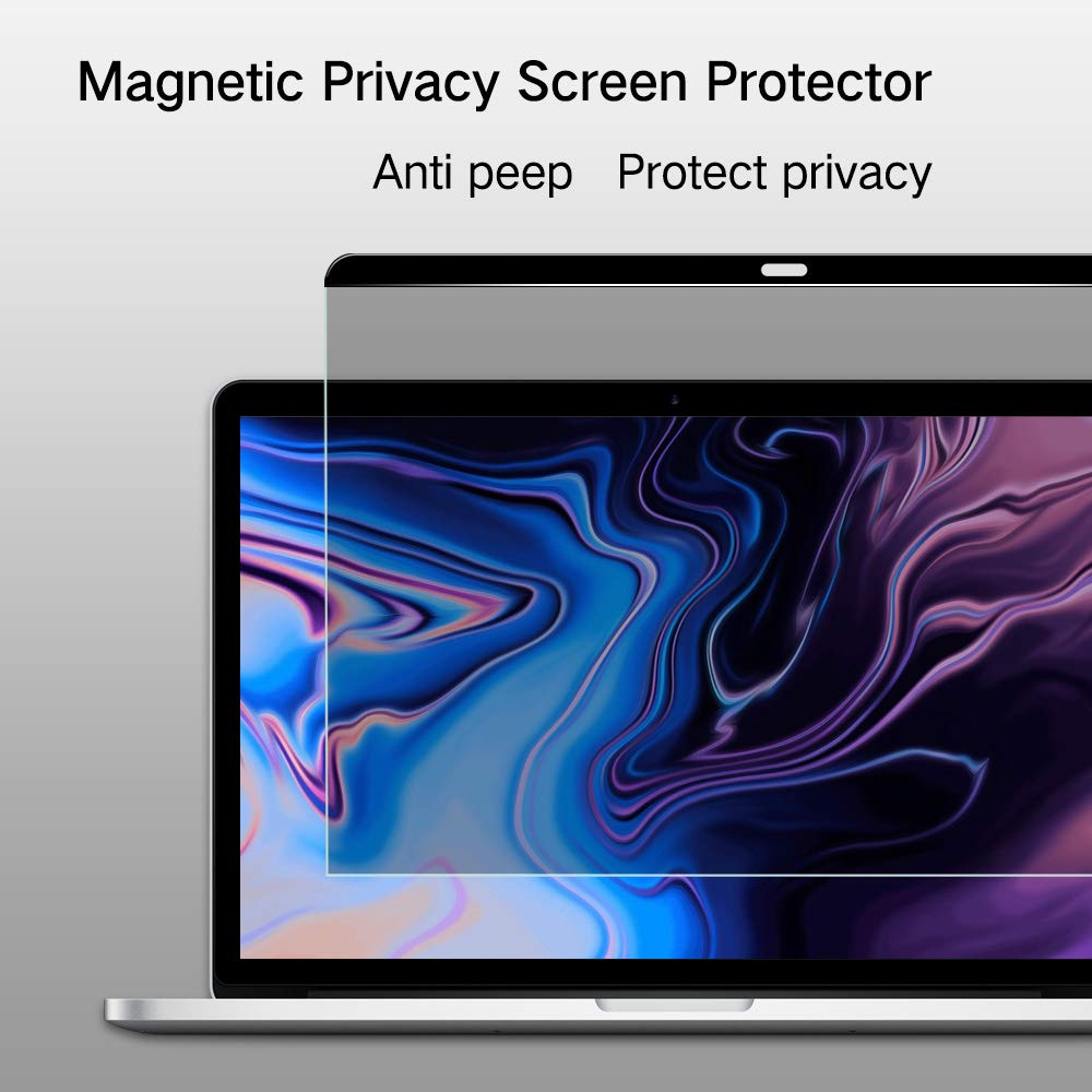 PERFECTSIGHT Magnetic Privacy Screen Protector Anti Spy Anti Glare Blue Light Filter Easy On/Off for MacBook pro 15 inch 2016-2018 A1534 (A1707/A1990)