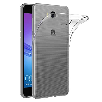 Case for Huawei Y5 2017 (5 inch) MaiJin Soft TPU Rubber Gel Bumper  Transparent Back Cover