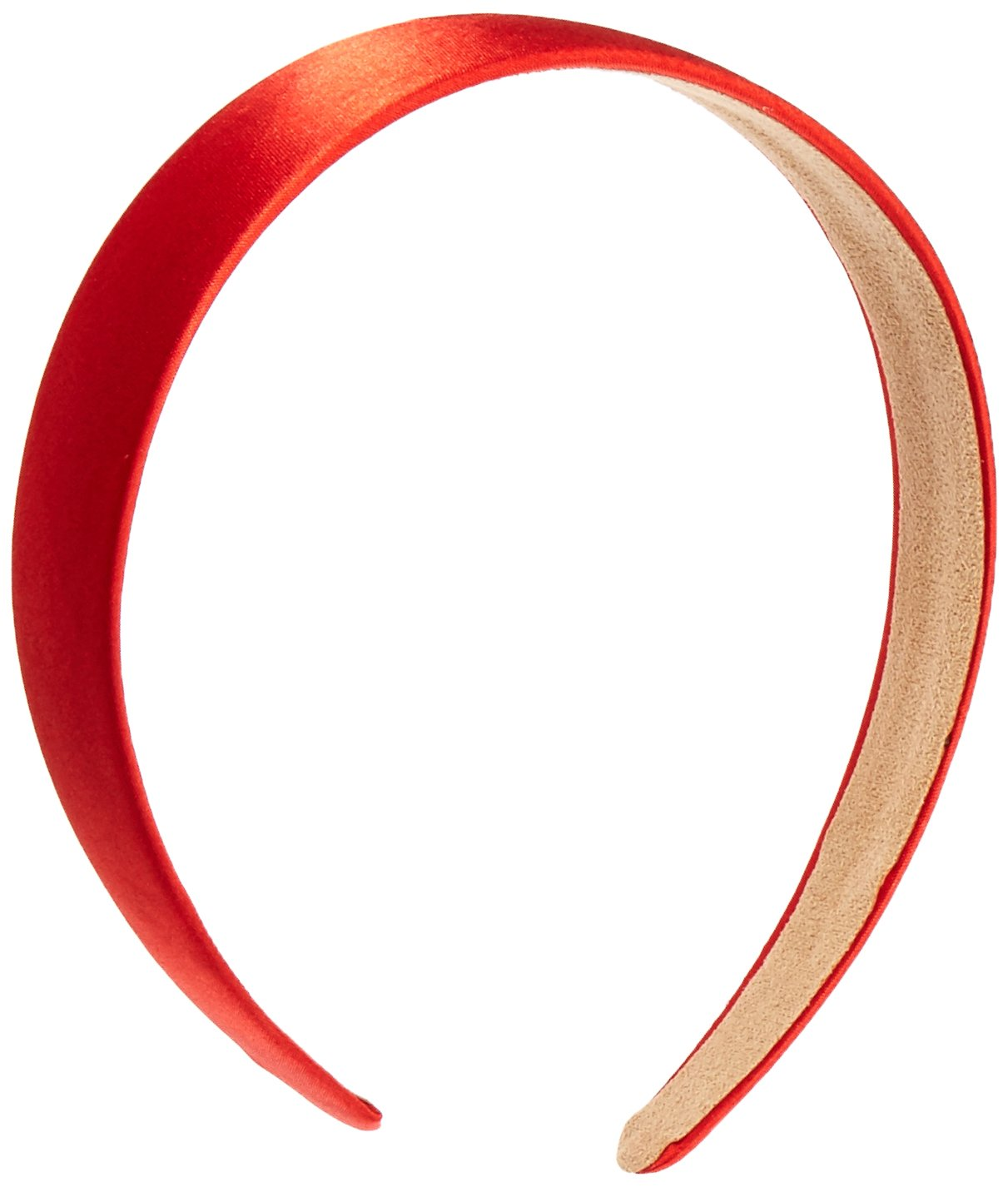 Trimweaver 1-Piece 25mm Satin Covered Headband, 1-Inch, Red TW-SCHB-25-RED-01