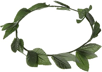 8 Pieces Green Leaf Roman Greek Goddess Laurel Wreath Fancy Dress Headbands