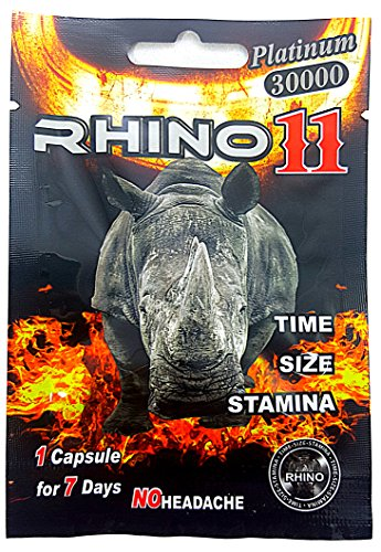 Rhino 11 Platinum 30000 - Pouches - Sexual Male Enhancement Supplement - 30 Pack