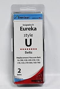 Generic Eureka Style U Vacuum Belts 2 Pack