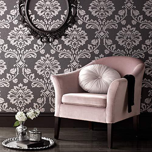 (Graham & Brown 20-708 Aurora Black/Grey Wallpaper,)
