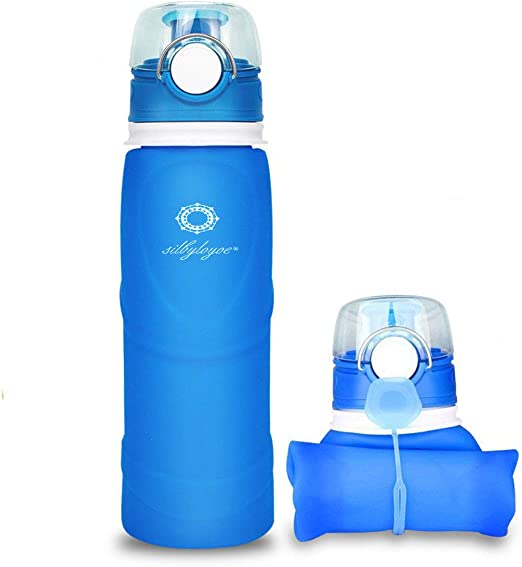 Outdoor Black Supkit 17oz Water Bottle with Lock Flip Lid with Removable Strainer and Carrying Lanyard School Daily Drink Bottle for Office Sport /& Fitness Leakproof /& Durable Water Bottles