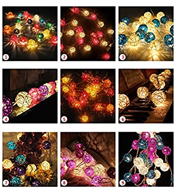Banwen Starry Fairy String Lights Ambiance Lighting for Home, Wedding, Christmas Party Decoration (35Leds 12ft, Red & Orange)