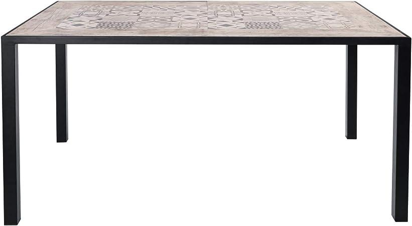 Tavolo Ceramicato In Ferro E Cemento Da 153x93 Cm Amazon It Casa E Cucina