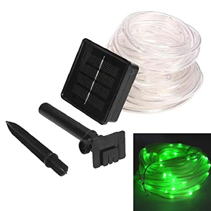 new product 86b66 c138e Solar Rope lights Outdoor,LIYUDL Fairy Rope String lights Waterproof 39.4FT  100 LED Rope Tube Strip Lights For Christmas Wedding Halloween Patio Party  ...