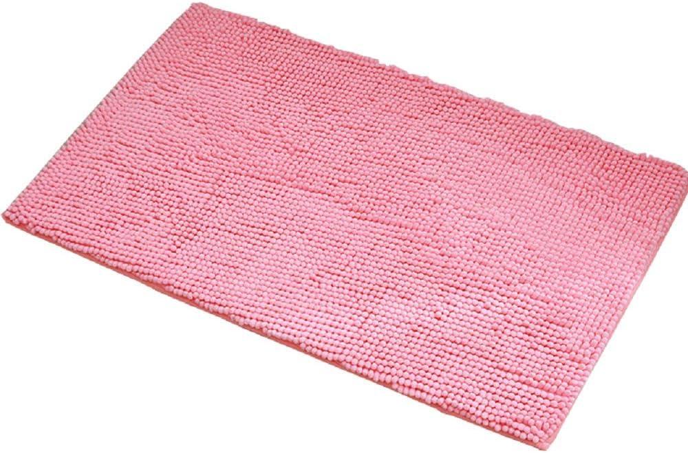 Kaptin Tapis de bain antid/érapant absorbant en chenille doux en microfibre lavable Red 40 x 60 cm