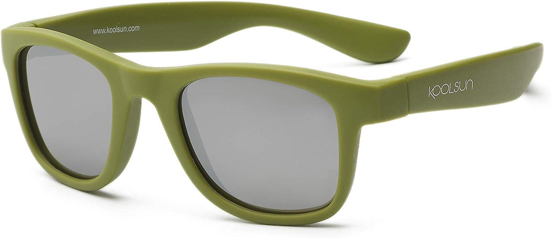 koolsun bebés y niños gafas de sol Wave Fashion 1 +, 100% protección UV, Verde Militar, 1-5 años