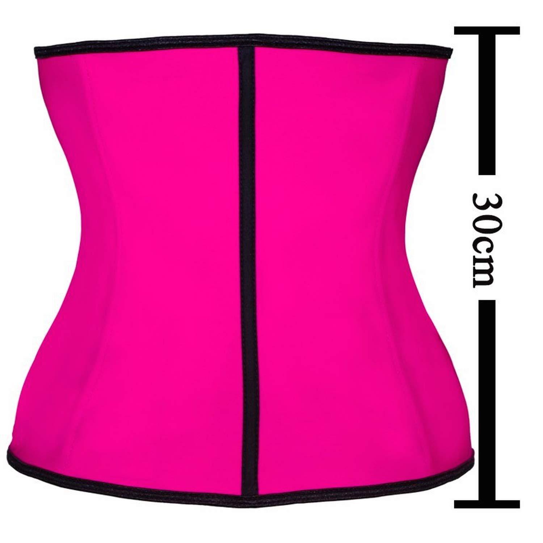 Ionian-store-underwear 100/% Latex 9 Steel Bone Body Shapers Women Corset Slimming Belt Waist Shaper,Beige,XXL