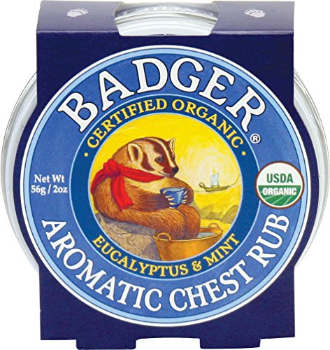 Badger Soothing Balms (Badger Balm Aromatic Chest Rub - Eucalyptus & Mint - 2 oz)