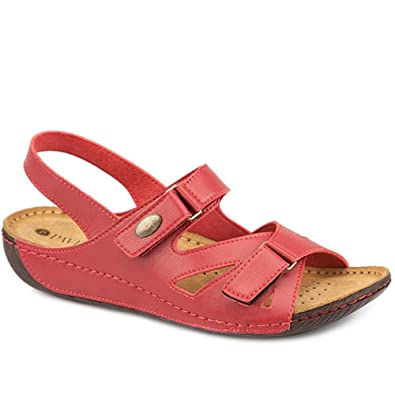 785e711a68c Pavers Touch-Fasten Sandal 309 808 - Red Size 5 (38)  Amazon.co.uk ...