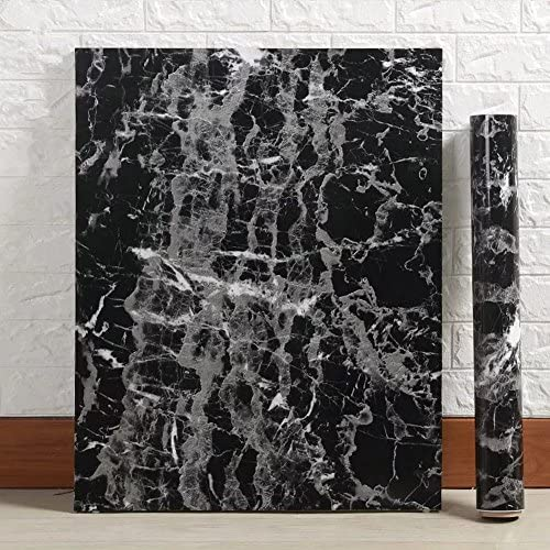 Black-Marble-Contact-Paper-Granite-Wallpaper-Self-Adhesive-Counter-Top-Removable miniature 2