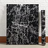 "Yancorp Black Marble Contact Paper Granite Wallpaper Self Adhesive Counter Top Removable Film Vinyl Peel-Stick Bachsplash Shelf Liner (11.8"" x 78.7"")"
