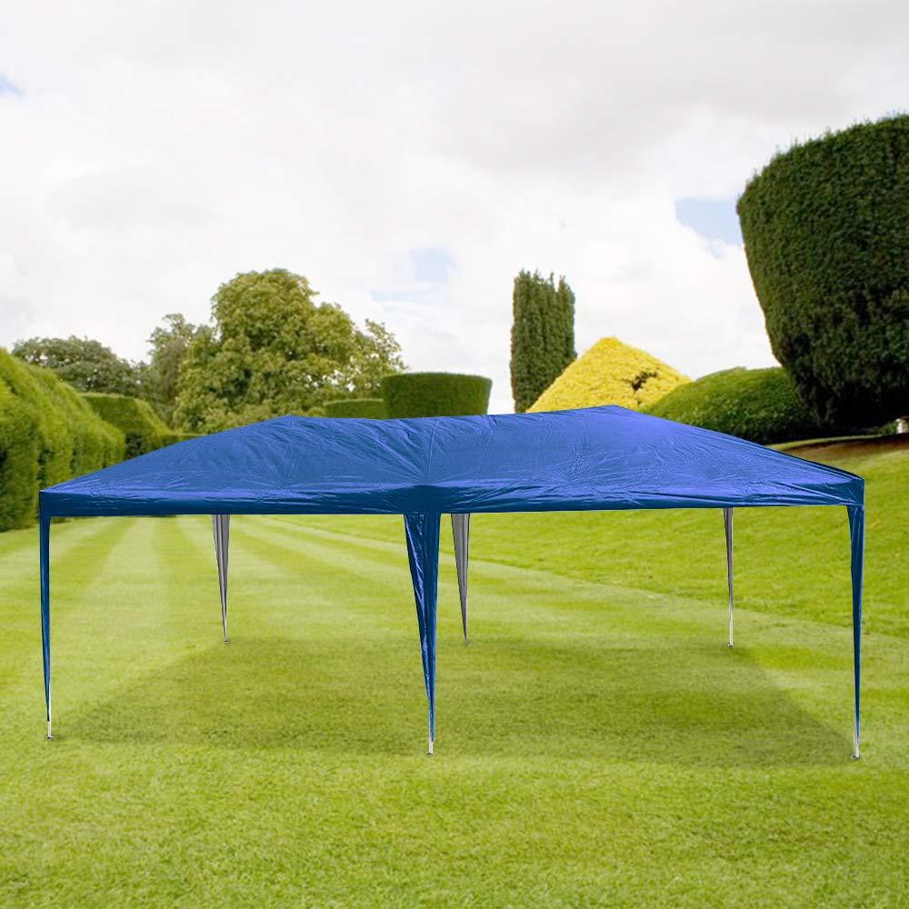 HENGMEI 3x6m Cenador Plegable para jardín Carpa pabellón Tienda sin Paredes Laterales para Eventos y Fiestas, Azul: Amazon.es: Jardín
