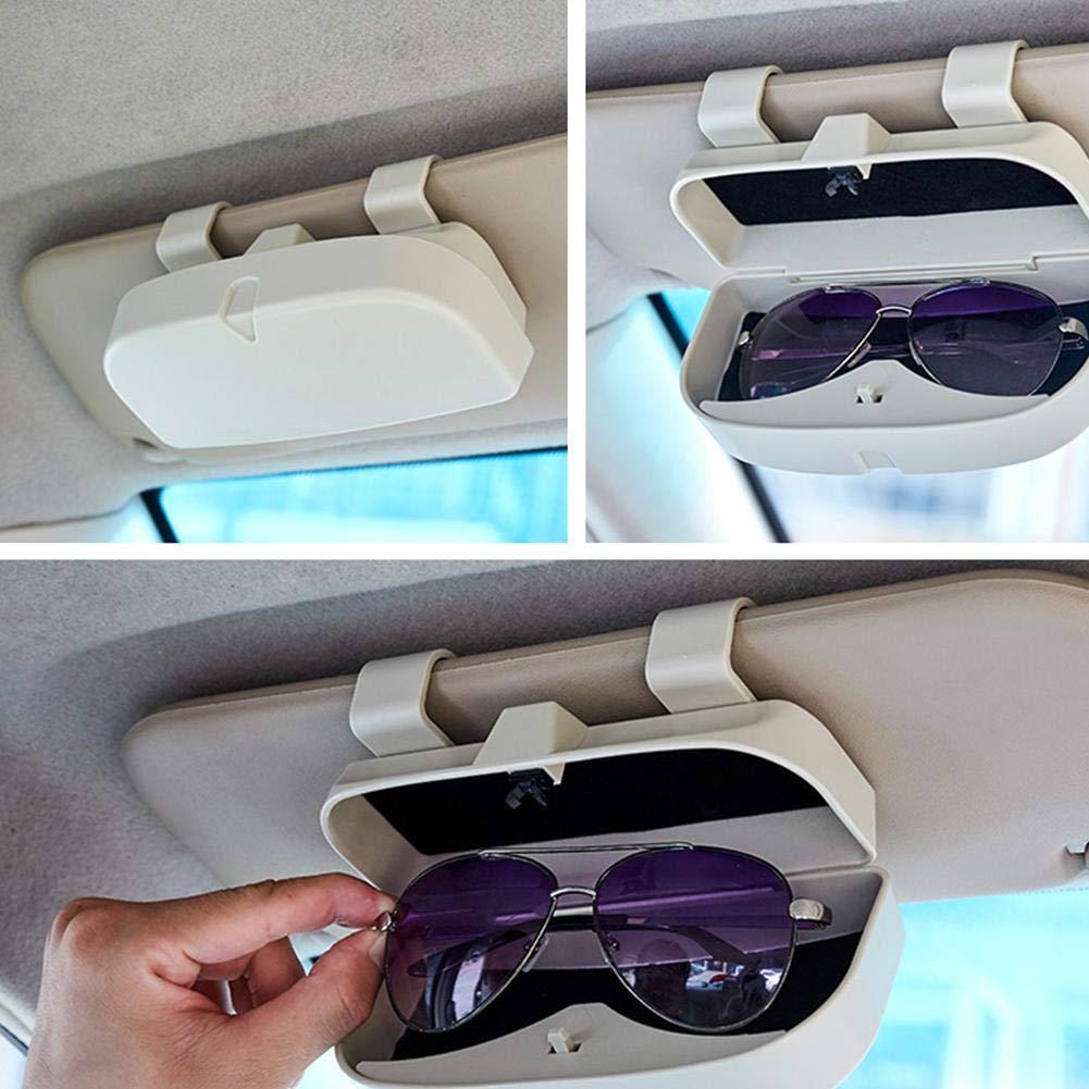 Universal Auto Sonnenbrille Brillenetui Aufbewahrungsbox Veranstalter Mit Brillenclip Auto Brillenhalter Auto Brillenetui Brillenhalter F/ür Auto Sonnenblende