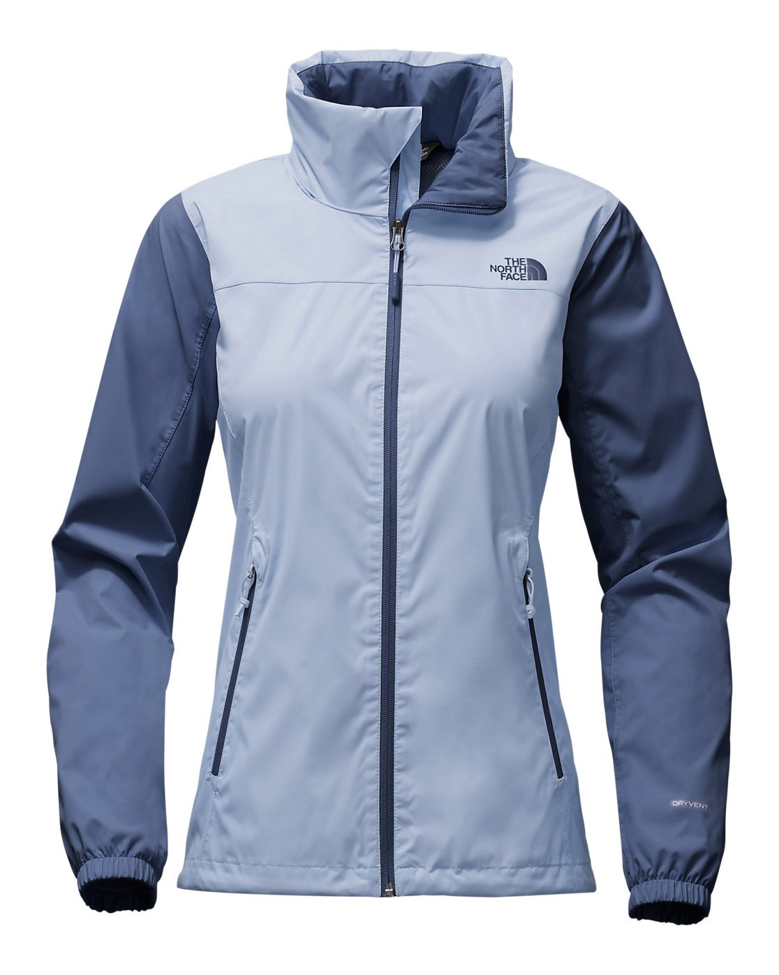 The North Face Womens Resolve Plus Jacket Chambray Blue/Coastal Fjord Blue XL