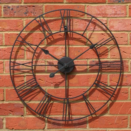 Large 47cm Classic Vintage Cast Iron Wrought Garden Wall