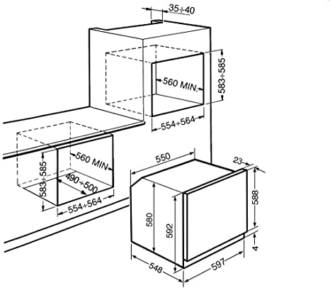 Smeg SF6388X - Horno (Grande, Horno eléctrico, 79 L, 3000 W, 70 L, 50-250 °C): Amazon.es: Hogar