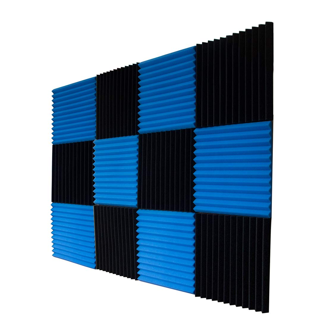 KAISHENGWEI 24 Pack Acoustic Panels Studio Foam Wedges 1 X 12 X 12Sound-proofing,Sound Absorption