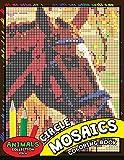 Circle Mosaics Coloring Book 4: Cute Animals