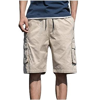 OPAKY Pantalones Hombre Verano Moda Pop Casual Trabajo Corta ...