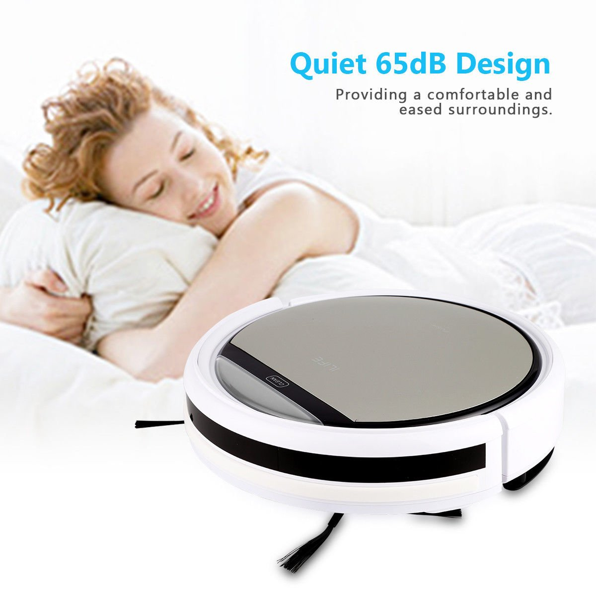 Cleaner Smart Robot Vacuum Cleaning Floor Auto Dust Microfiber Robotic Sweeper Mop Automatic by Alek...Shop (Image #4)
