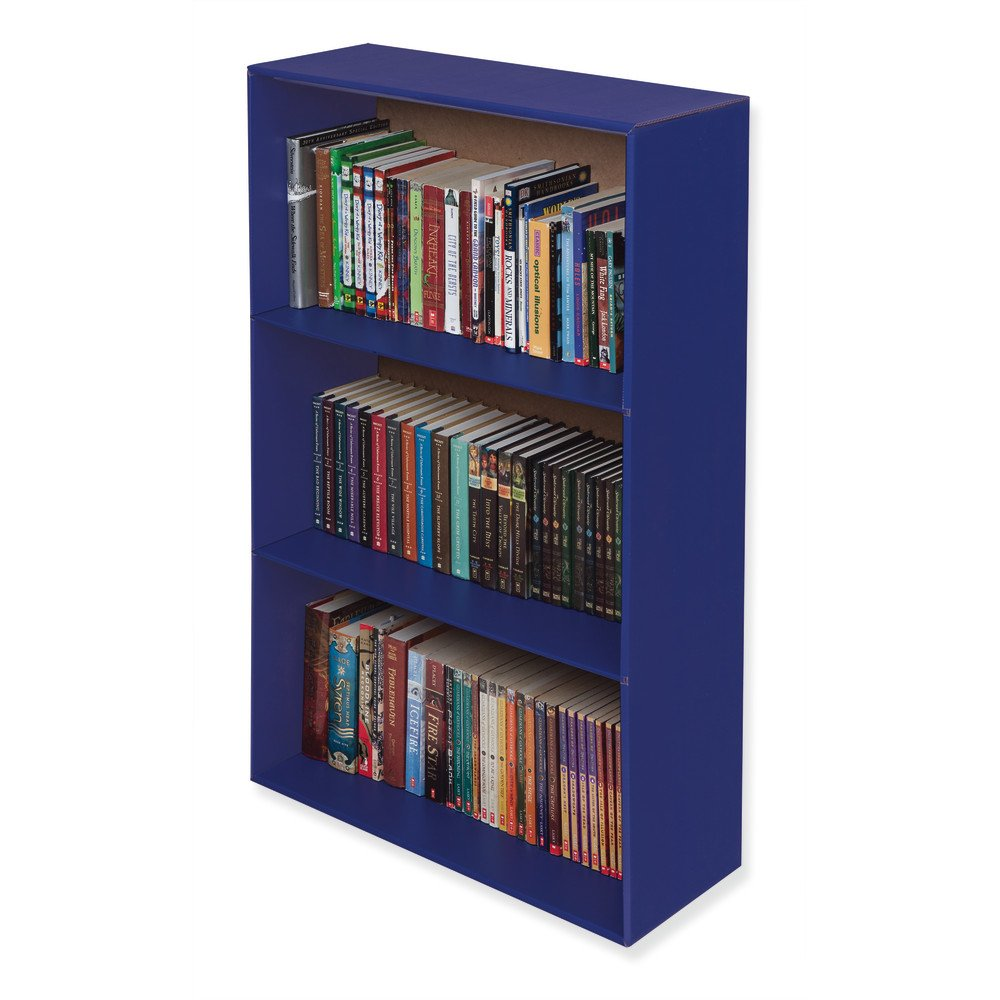 Classroom Keepers Upright Bookcase, Blue