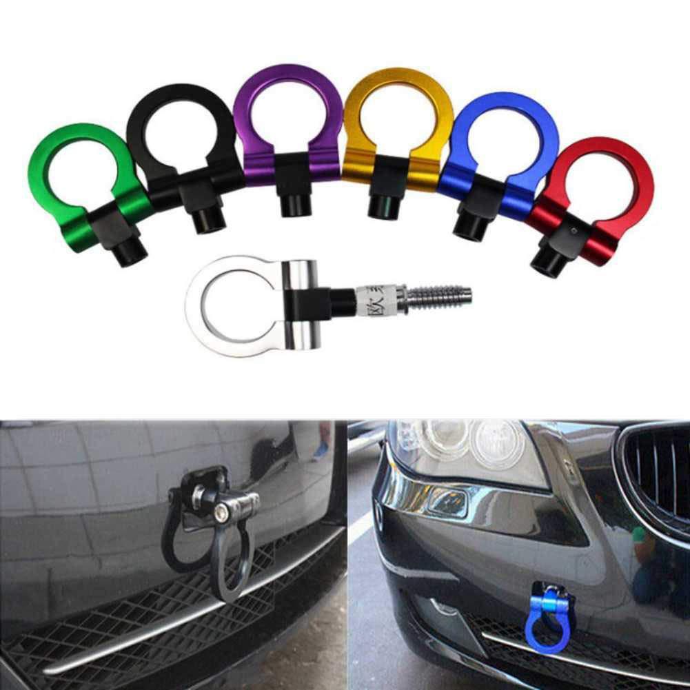 RONSHIN Accesorios de Coche Universal Racing Towing Car Tow Hook Fit para BMW E30 E34 E36 E39 E46 Negro