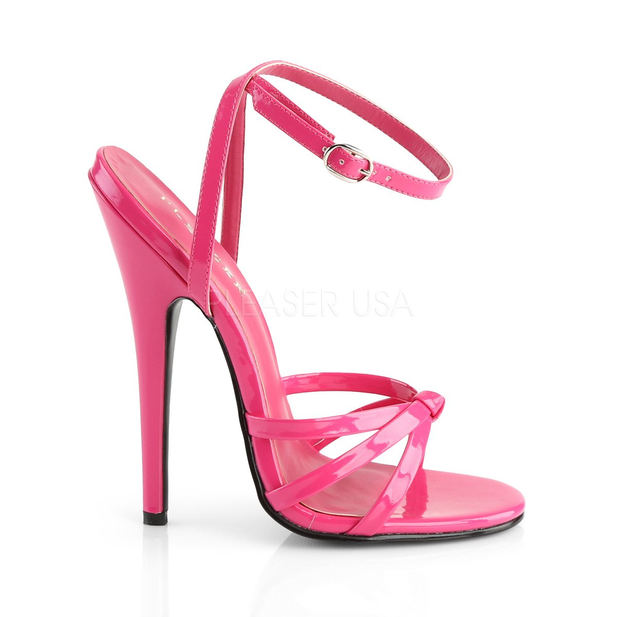 e9c9475fc56997 Higher-Heels PleaserUSA Damen Stiletto Sandaletten Sandalen Domina-108 Lack  hot pink  Amazon.de  Schuhe   Handtaschen