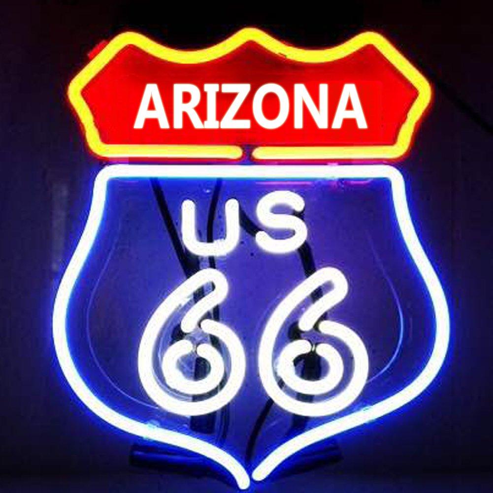 ARIZONA State 66 歴史的ルート wikineonネオンサインライト ビールバー ポスター 装飾壁サイン ハイウェイ車ロードマップ部屋11
