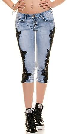 Koucla Push up Capri Jeans Crochet Lace  Amazon.co.uk  Clothing 6e49f59f7d