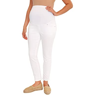 7e7f7c887f5a6 Great Expectations Maternity Full Panel Ankle Length Skinny Jeans at Amazon  Women's Clothing store: